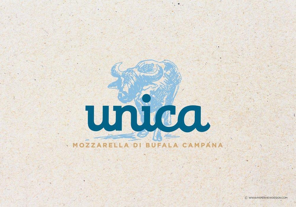 Unica-Mozzarella-diBufala-Logo-Identity-Branding