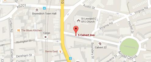 5 Calvert Avenue, Shoreditch, London, E2 JP +44 (0) 207 324 7560 london@the7thchamber.com