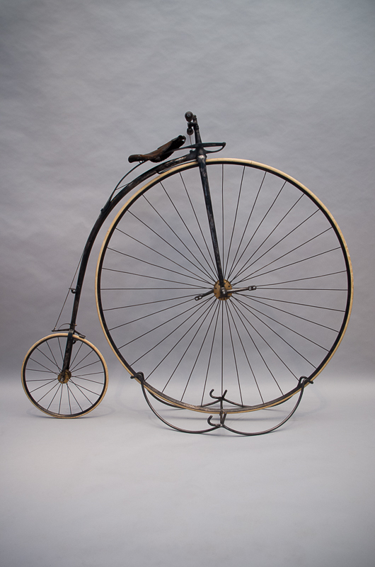 Hochrad, Design: Eugène Mayer, Hersteller: Eugène Meyer & Cie, ca. 1875, Foto: Sarah Seefried, (c) SKD