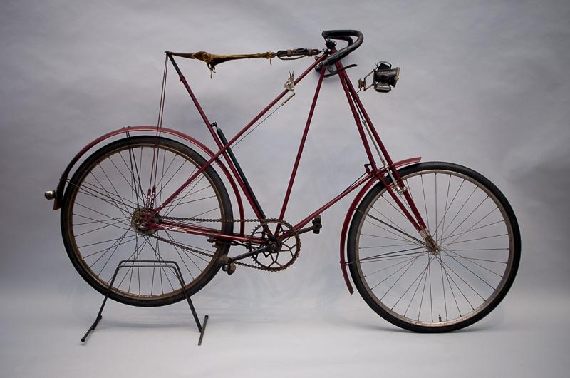 """Hängemattenfahrrad """"Dursley Pedersen"""", Design: Mikael Pedersen, ca. 1912, Foto: Sarah Seefried, (c) SKD"""