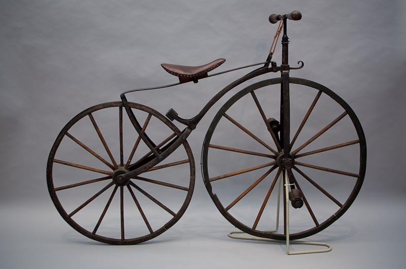 Frontkurbelrad, ca. 1870, Leihgeber: Verkehrsmuseum Dresden, Foto: Sarah Seefried, (c) SKD