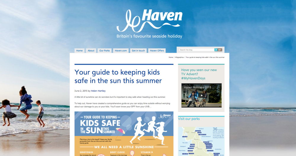 HAVEN    Safe in the Sun infographics