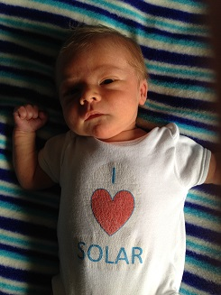 The youngest Southill Solar supporter (and newest member of Als's family!)