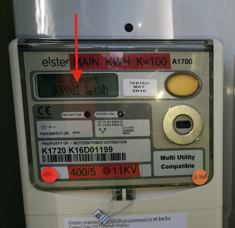The first metered kW of generated clean green community energy.