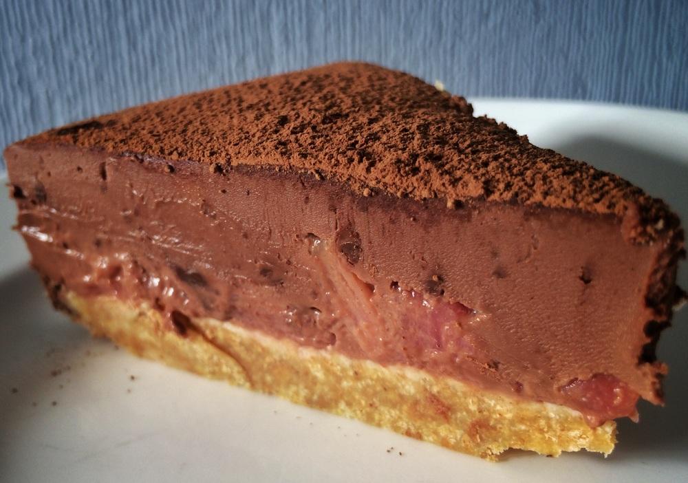 Chocolate and Rhubarb Torte