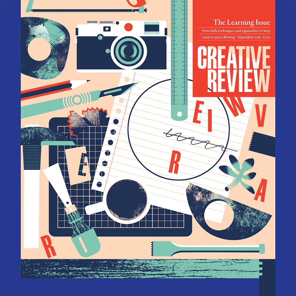 Lucy has designed the cover of the latest issue (Sept '16) of Creative Review.