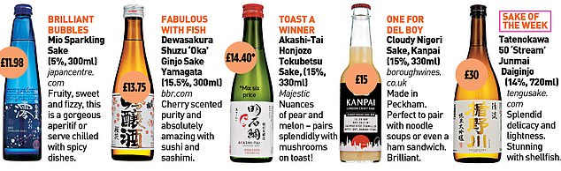 daily Mail - Whatever your choice of sake, the range of flavours is almost as rich as its thousands of years of history