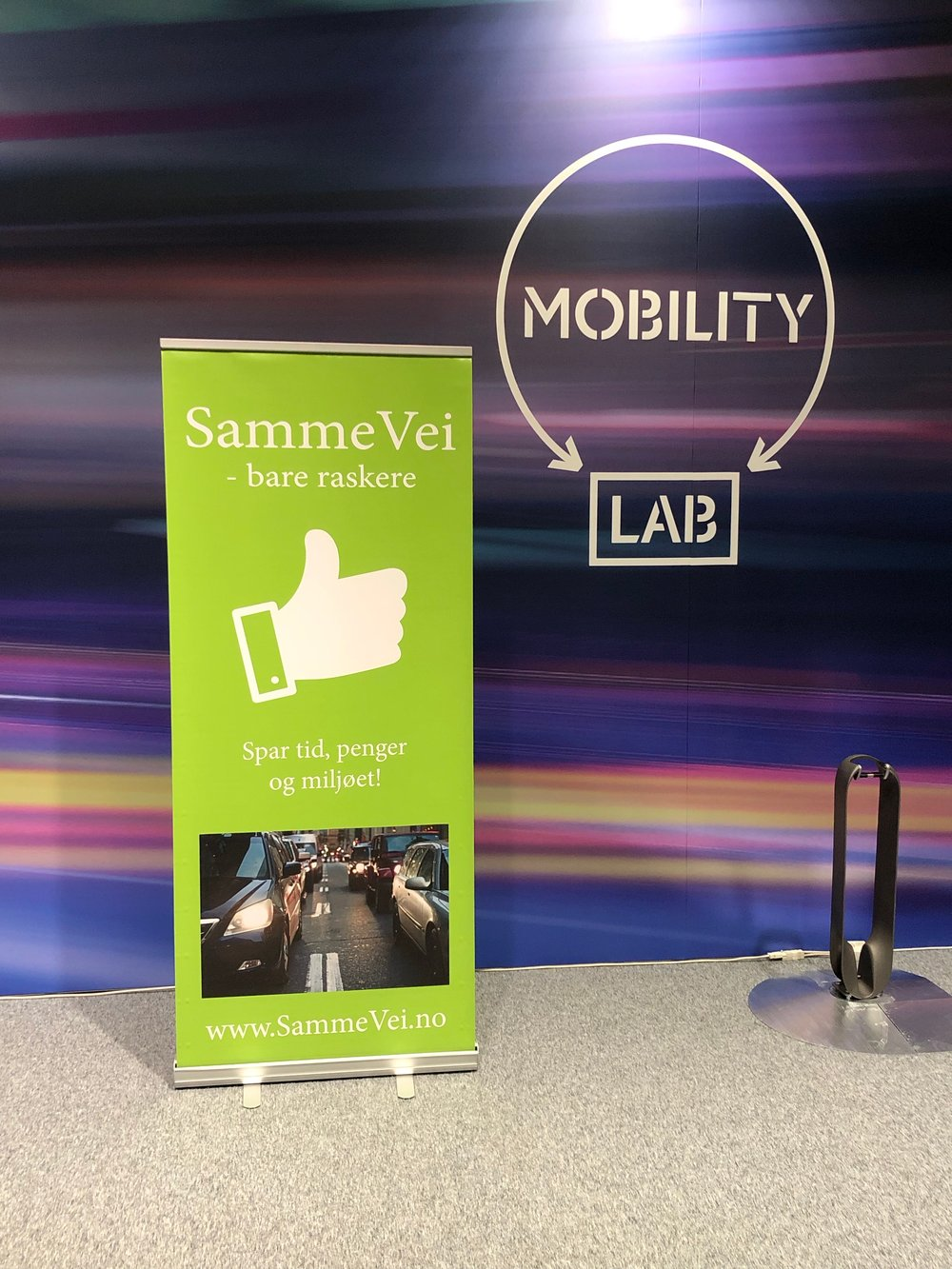 SammeVei sto sammen med MobilityLab på stand for å fronte nye, smarte mobilitetsløsninger.