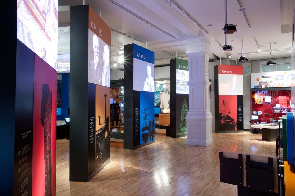 The Cardiff Story timeline monoliths © Redman Design.jpg