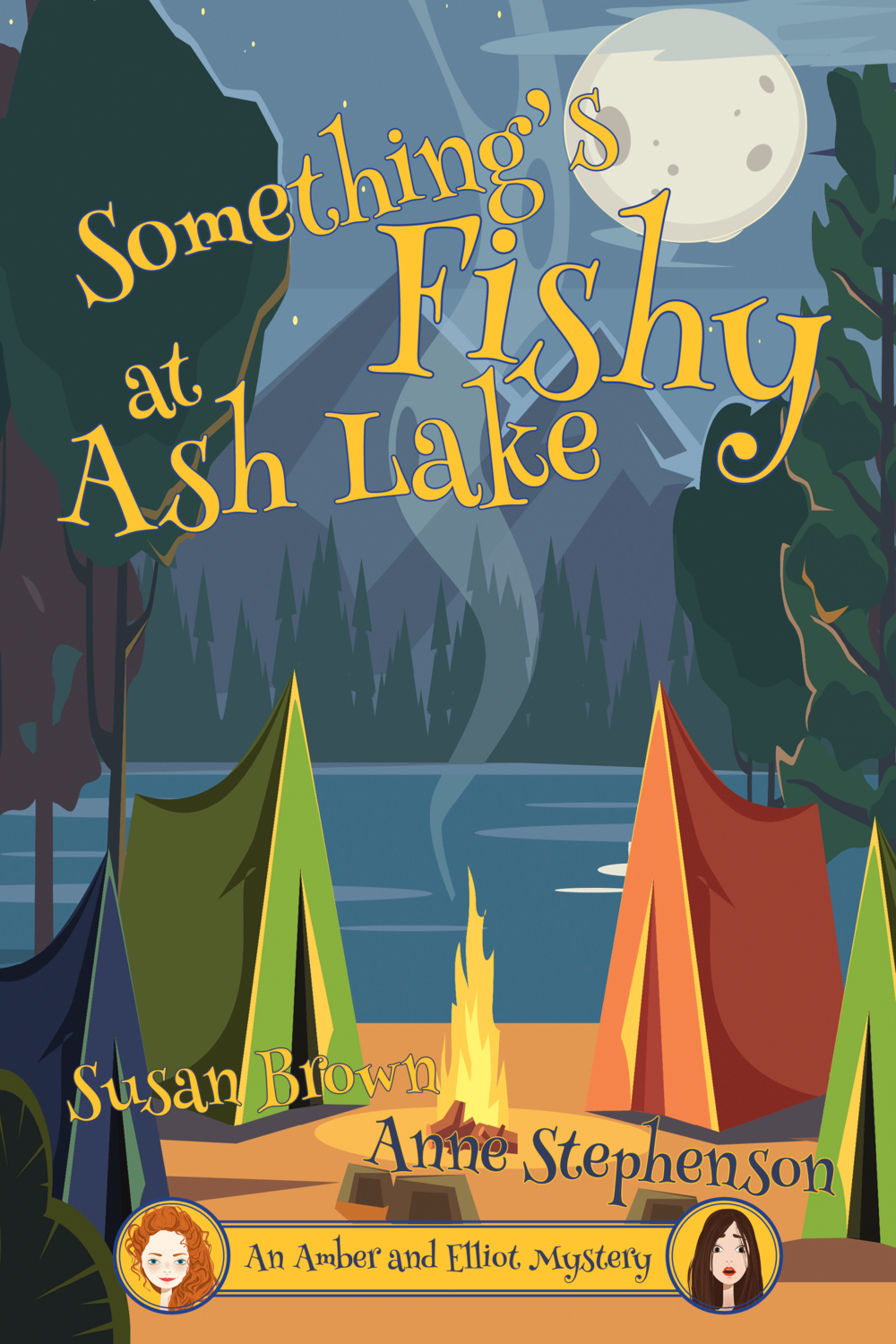 Something's Fishy at Ash Lake  Available in  print ,  Kindle  and  Kobo .  Cover artwork and interior layout provided by Cover&Layout.