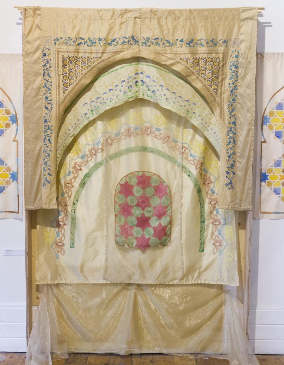 Qarraiwyyin Arch Fabric ~ Islamic Art, Moroccan Art, Textile Art, Pattern Design, Shaheen Kasmani.