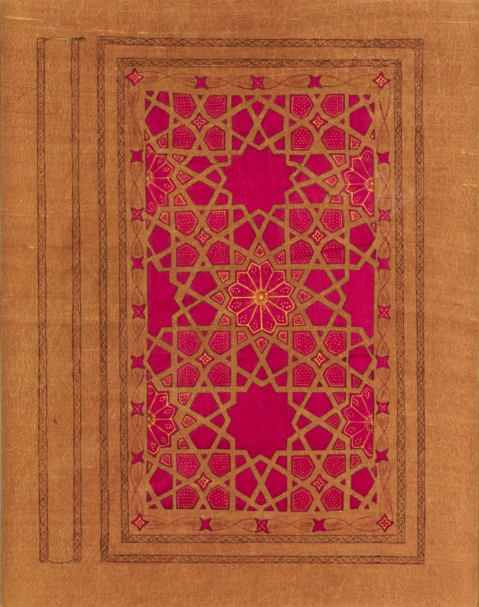 Symbolic Book Cover - Red ~ Geometry, Islamic Textile Art, Pattern Design, Shaheen Kasmani