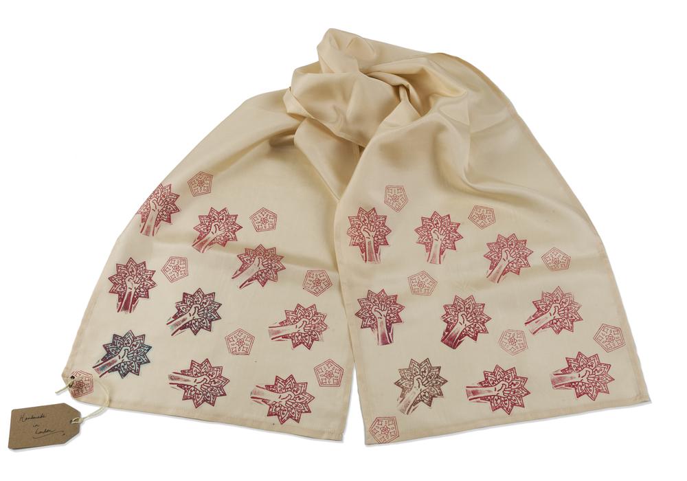 Silk Scarf ~ Islamic Art, Textile Art, Pattern Design, Shaheen Kasmani