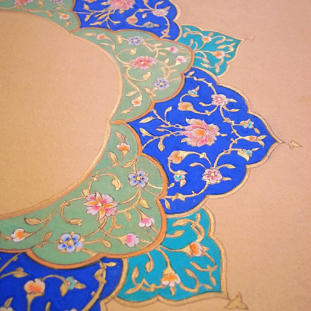 Shamsa Close Up ~ Illumination, Persian Art, Islamic Art, Pattern Design, Shaheen Kasmani