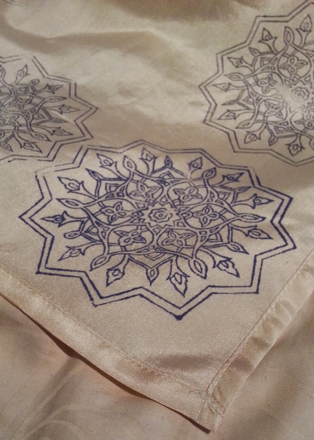 Silk Scarf ~ Persian Art, Islamic Art, Geometry, Textile Art, Pattern Design, Shaheen Kasmani