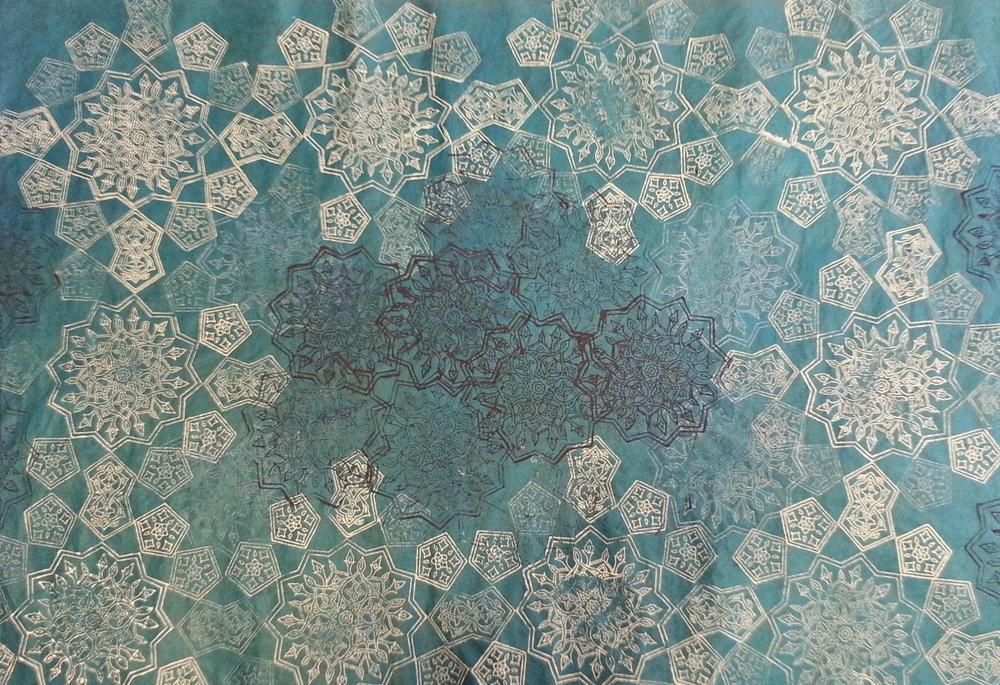 Turquoise ~ Persian Art, Islamic Art, Textile Art, Pattern Design, Shaheen Kasmani