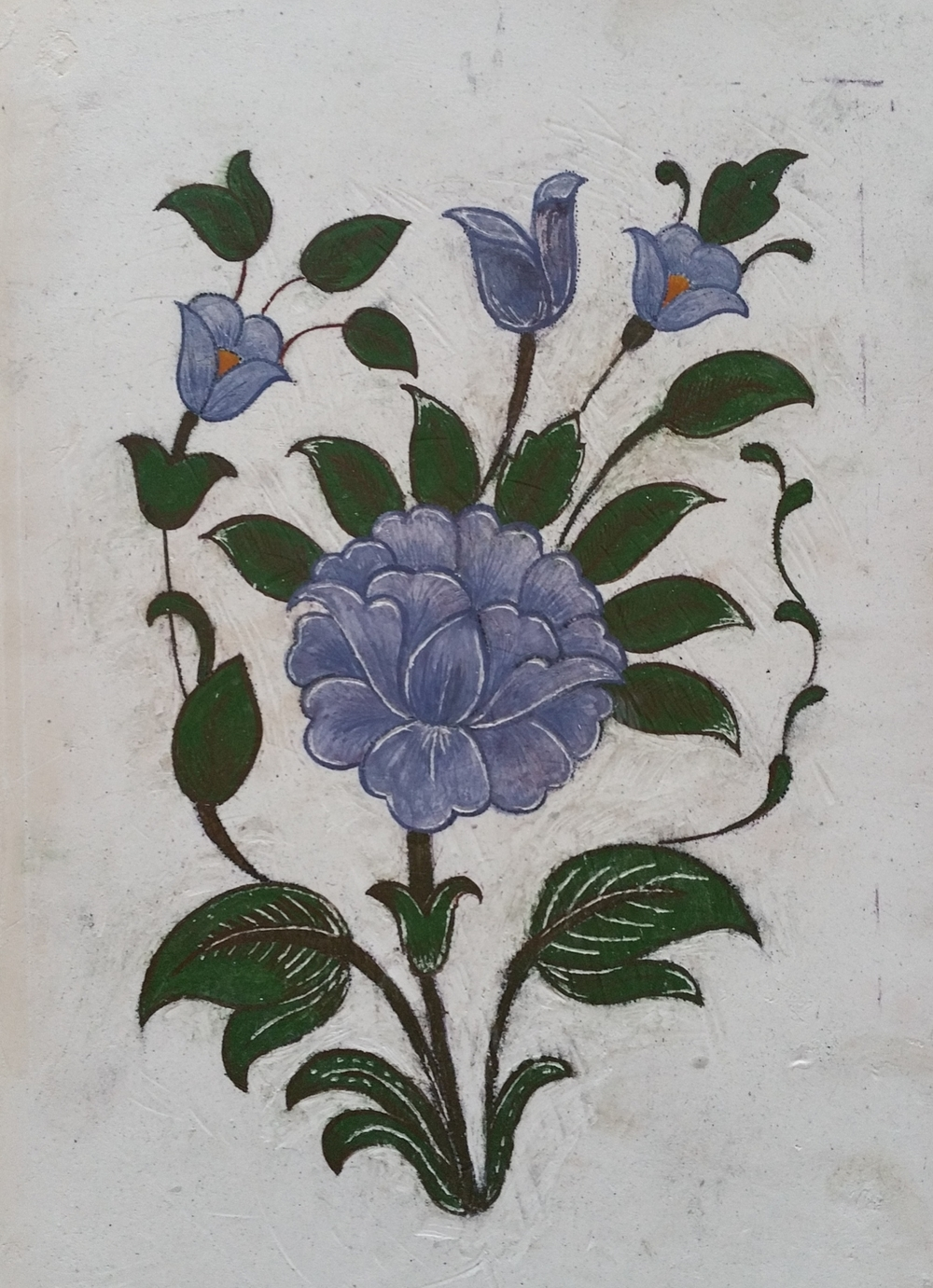 Naqqashi Flower ~ Mughal Art, Indian Art, Asian Art, Islamic Art, Pattern Design, Shaheen Kasmani