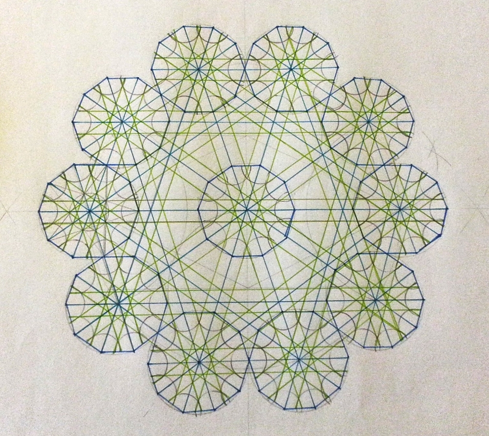 Work in Progress ~ Geometry, Islamic Art, Shaheen Kasmani