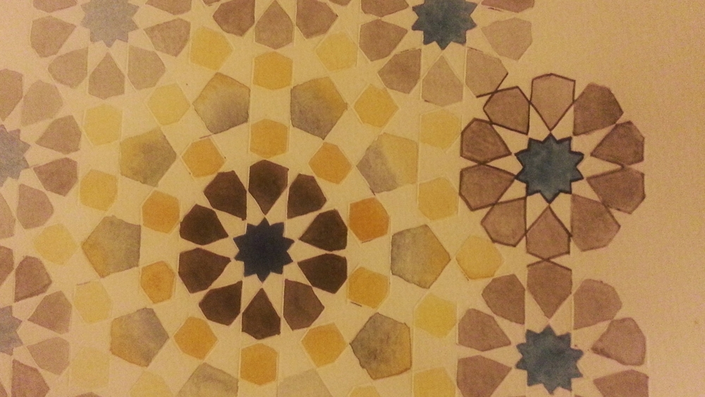 Work in Progress ~ Geometry, Islamic Art, Pattern Design, Shaheen Kasmani