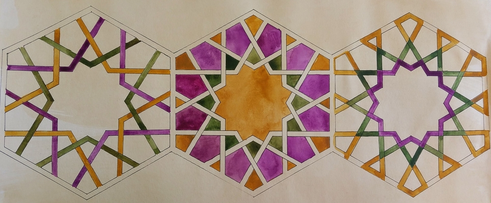 Inspired by Alhambra ~ Geometry, Islamic Art, Pattern Design, Shaheen Kasmani
