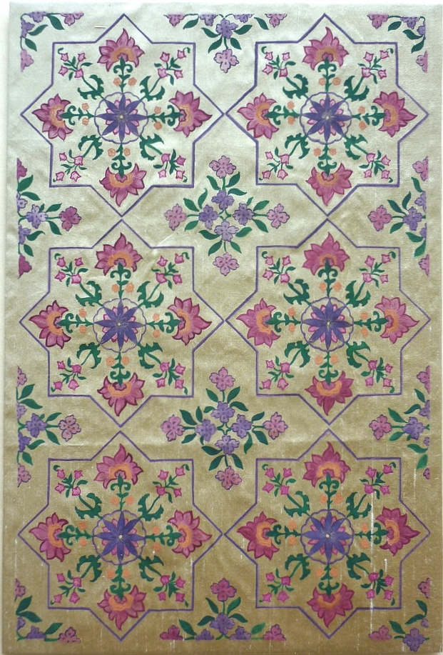 Delhi ~ Mughal Art, Indian Art, Asian Art, Islamic Art, Geometry, Islimi, Pattern Design, Shaheen Kasmani.