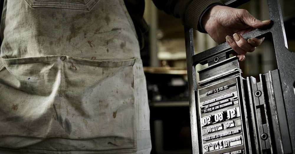 Traditional letterpress @berrington_press #craft #crafts #letterpress #handmade #tradition #typography