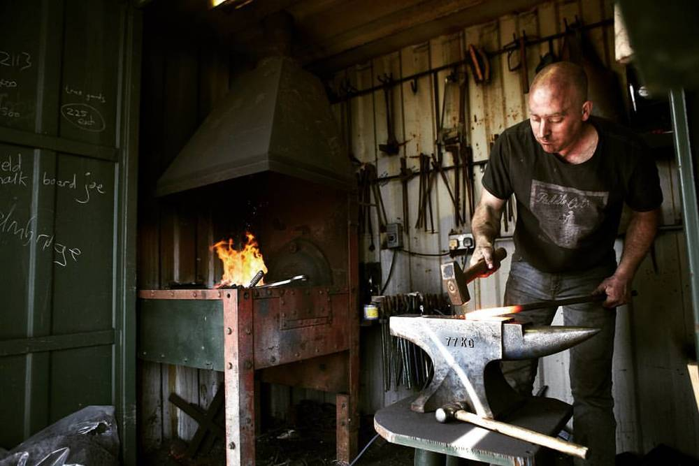 Rowlstone forge #ironworker #traditional #craftsman #forge #craft #metalwork #fire #sparks