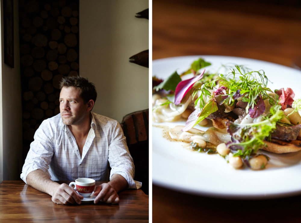 Matt Tebbutt at his Foxhunter Restaurant in Abergavenny. He is often seen on Food Unwrapped these days