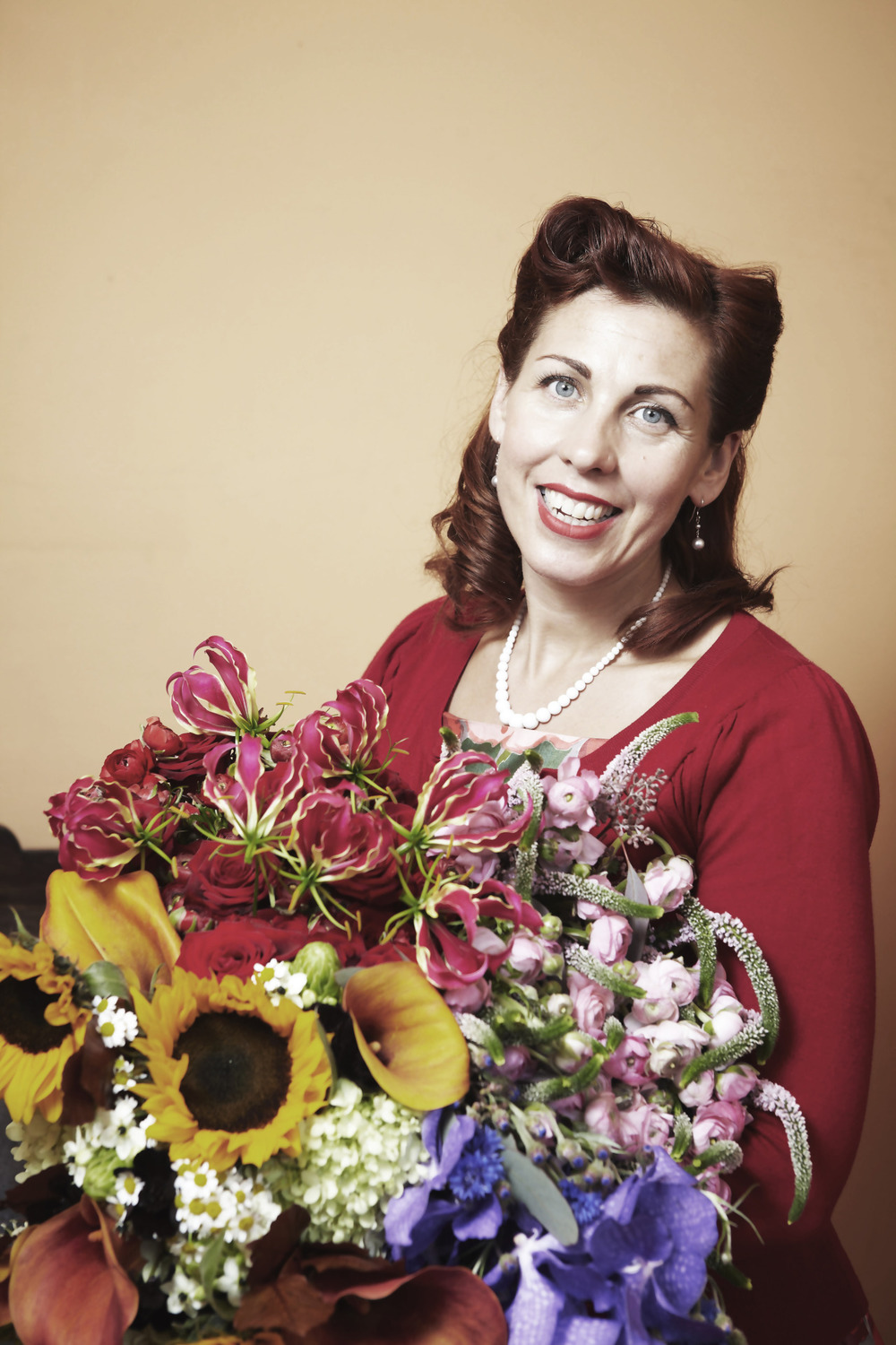 One from the archives. Photoshoot for flower company 'the wilde bunch' with a 50's pin up style for the brief