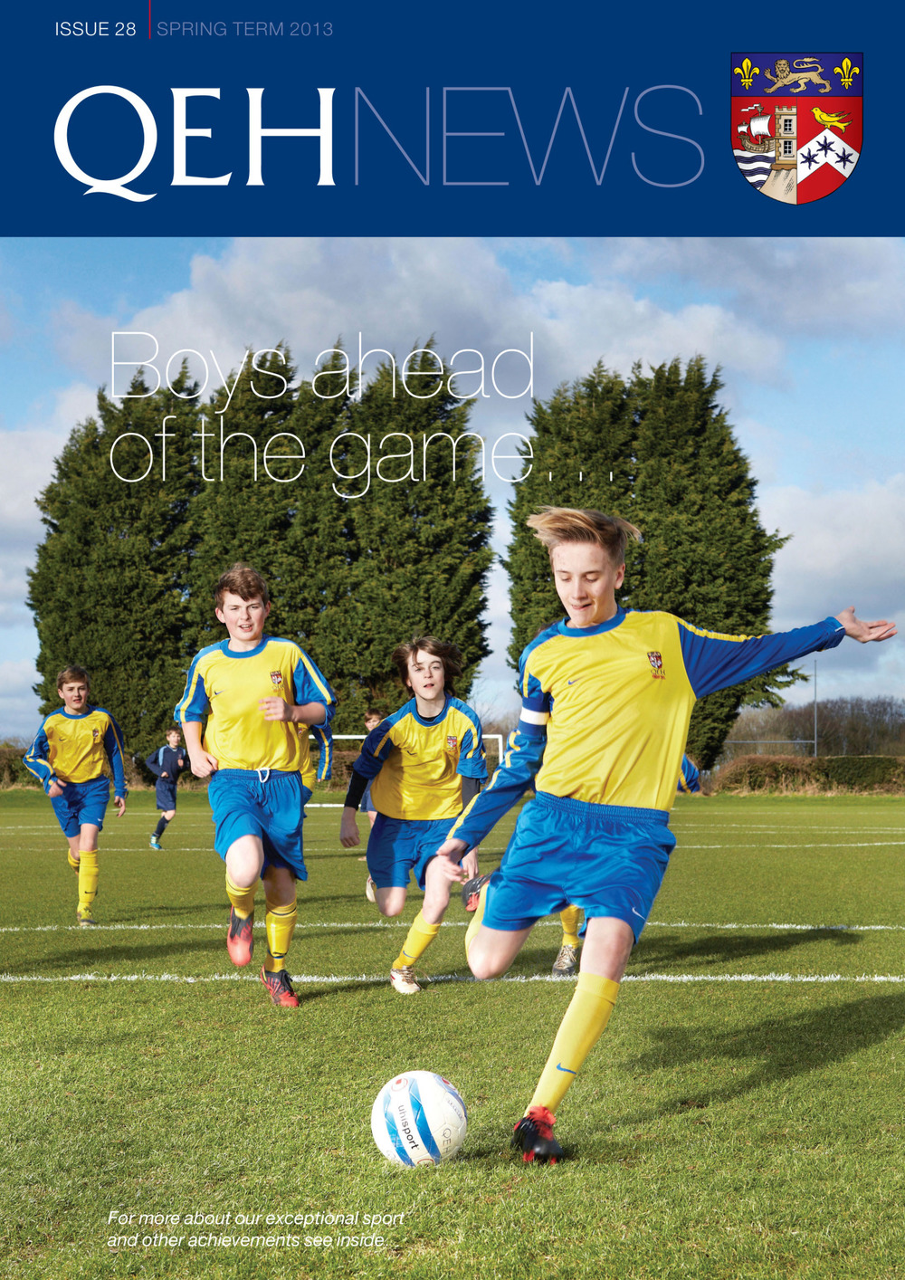 Recent Work Front Cover for Local School Magazine