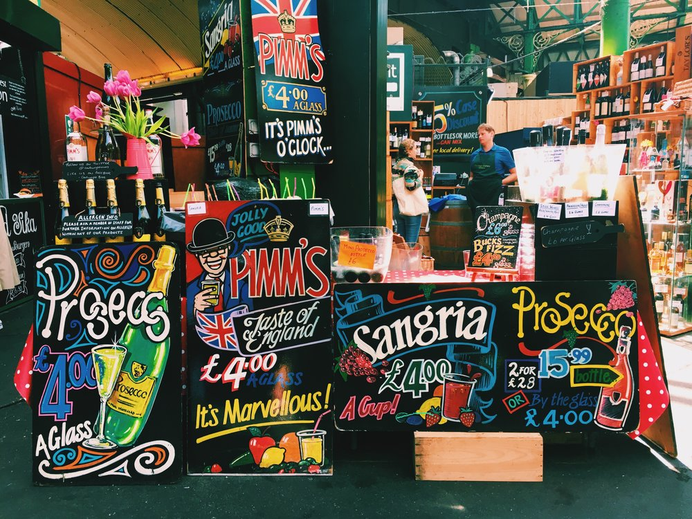 The Borough Market Pimm's stall in all its glory ~