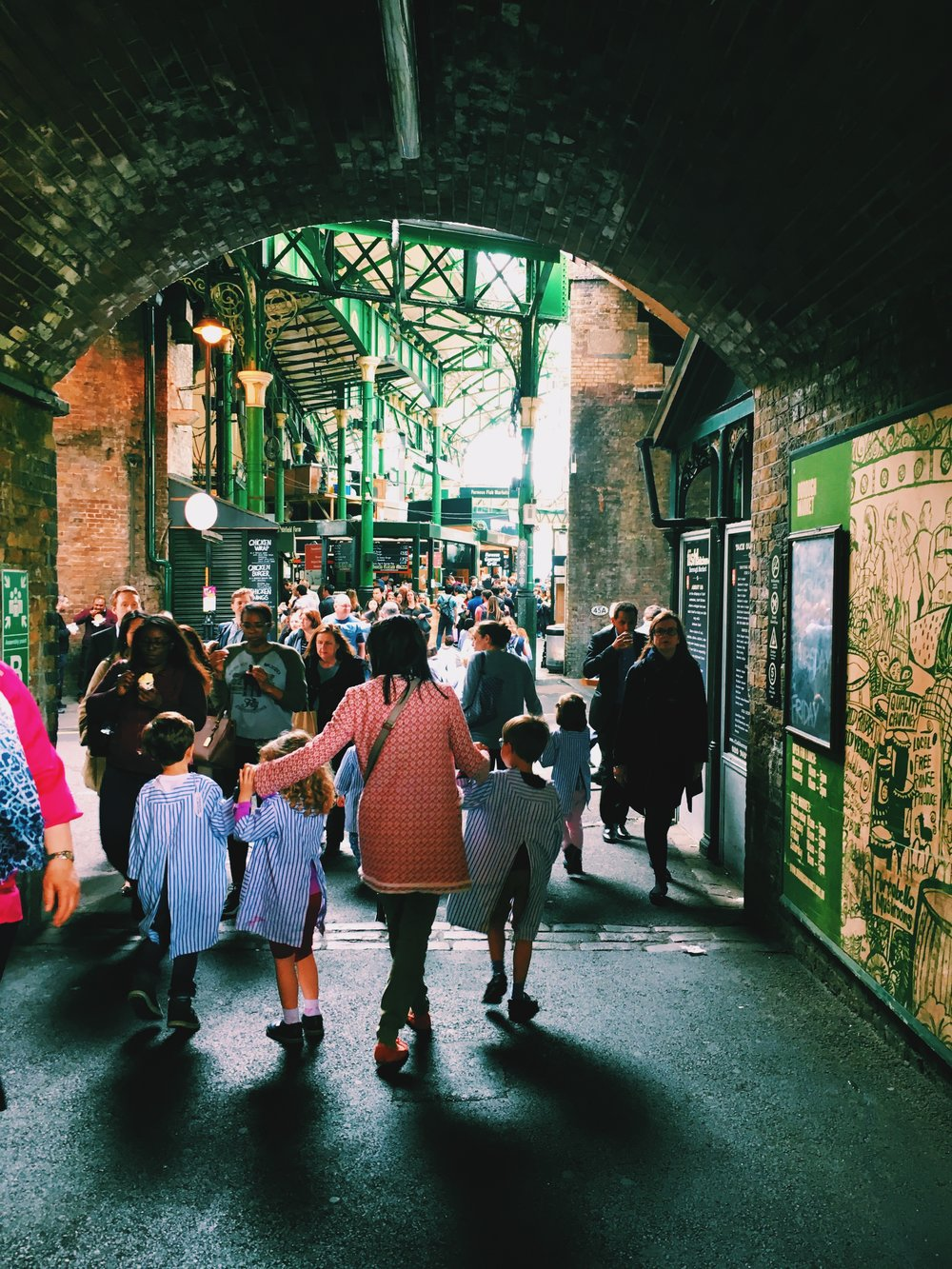 The hustle and bustle of Borough Market.
