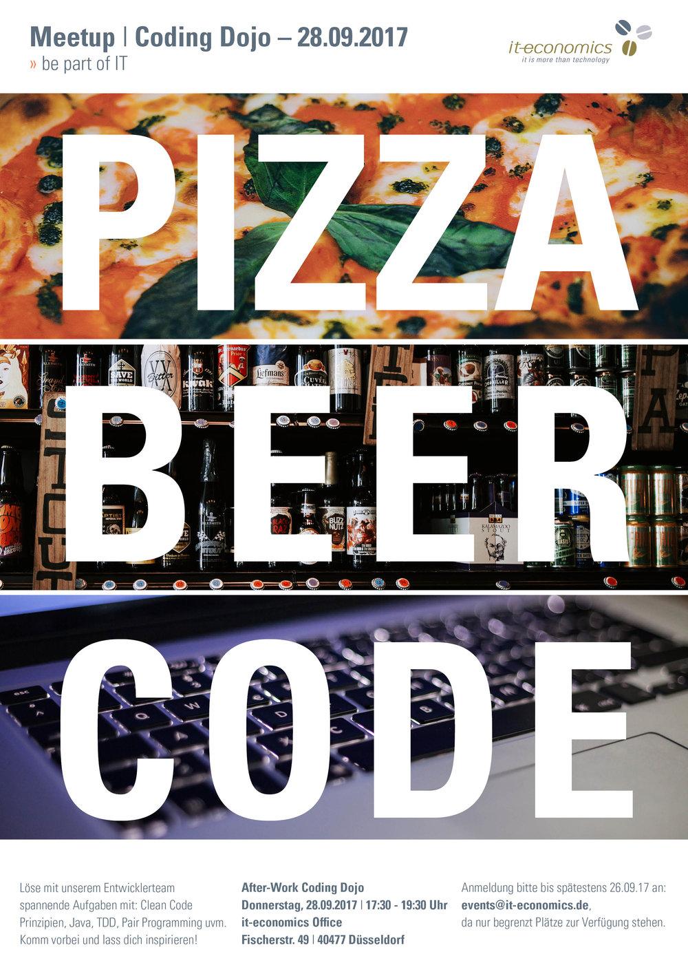 Pizza - Bier - Code - it-economics
