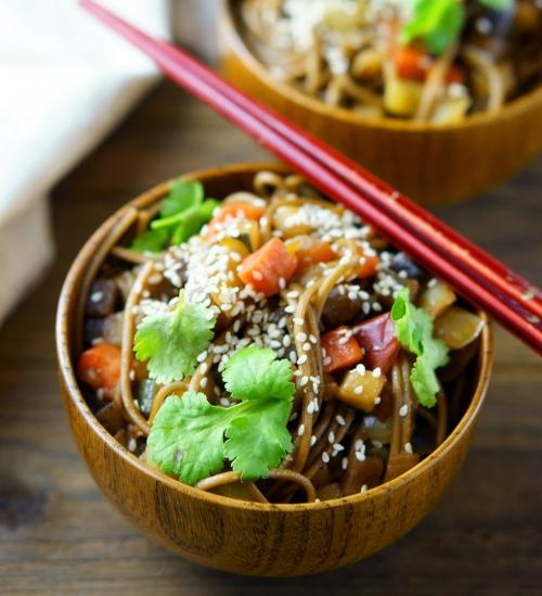 Asian style noodle bowl