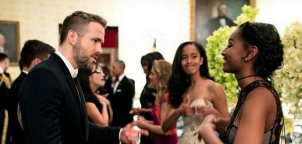 5.  - Ryan Reynolds is Sasha's celeb crush and Malia prepped her for meeting him.