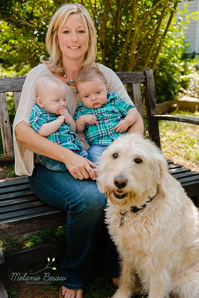 beautiful mother and her adorable twin boys (DC metro family photography)