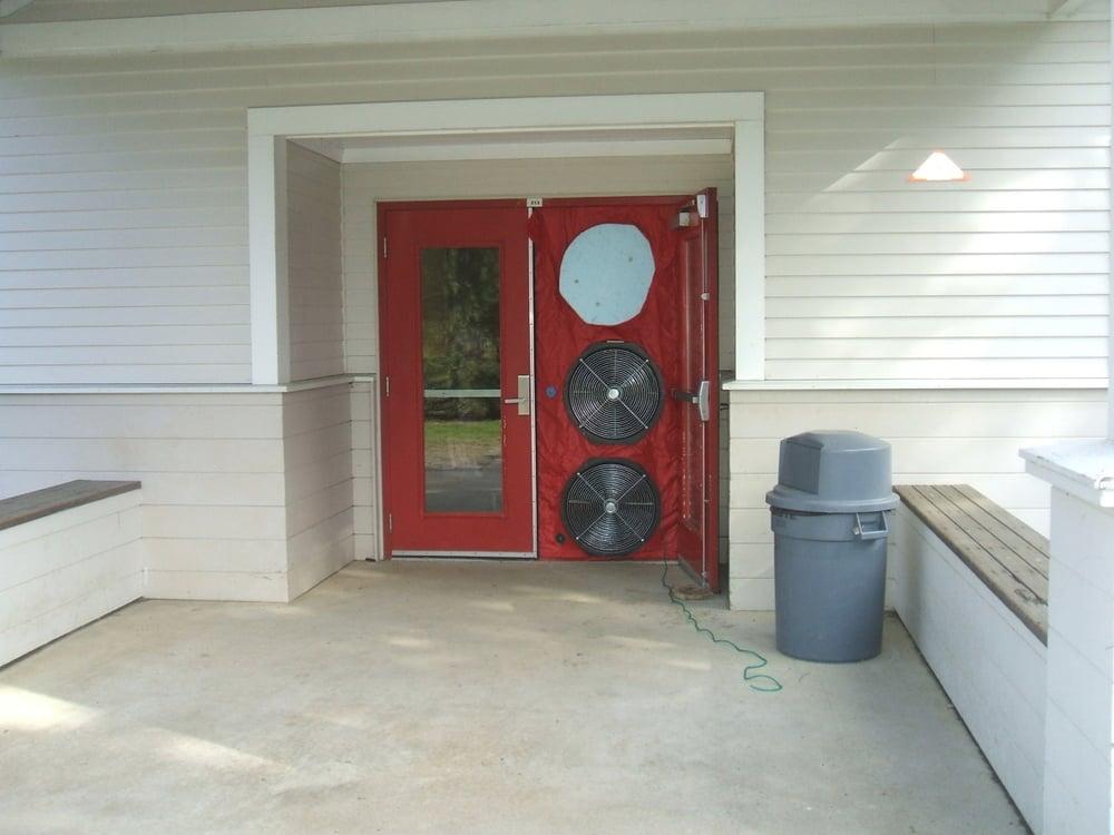 Blower Door Fan Setup & Envelope Assessment - Putney Central School Putney VT \u2014 Zero by ...