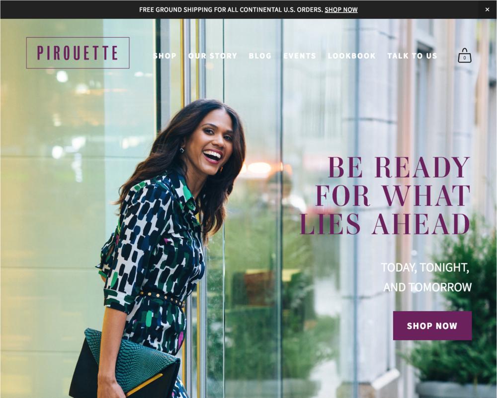 Squarespace e-commerce website