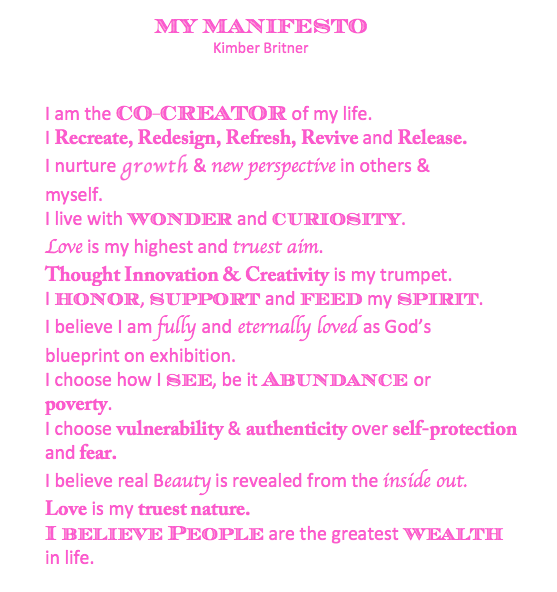 Personal Manifest