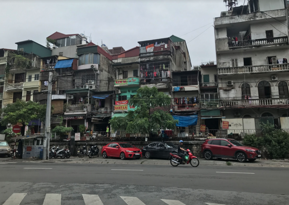 The streets of Hanoi, Vietnam - a familiar sight that I passed by daily as students and teachers went from the hotel we stayed at to schools where we taught. The business of the streets is unlike anything in the USA.