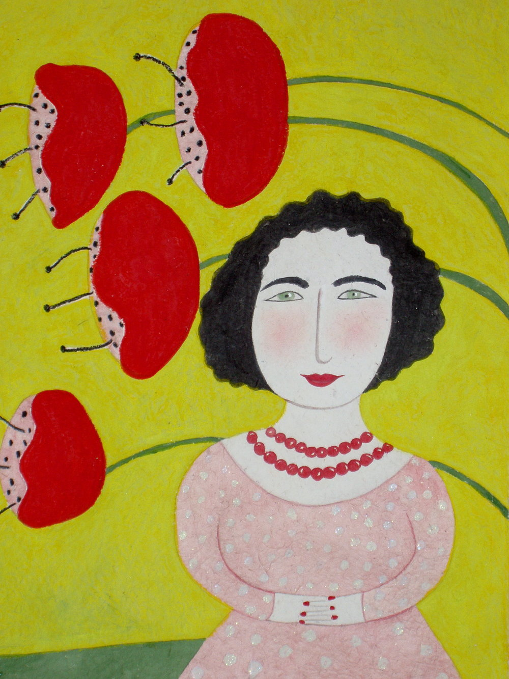 Woman with Red Poppies