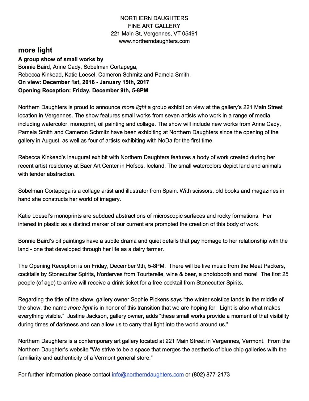 Northern Daughters PRESS RELEASE more light.jpg