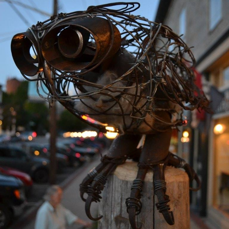 Steel and Barb Wire Owl