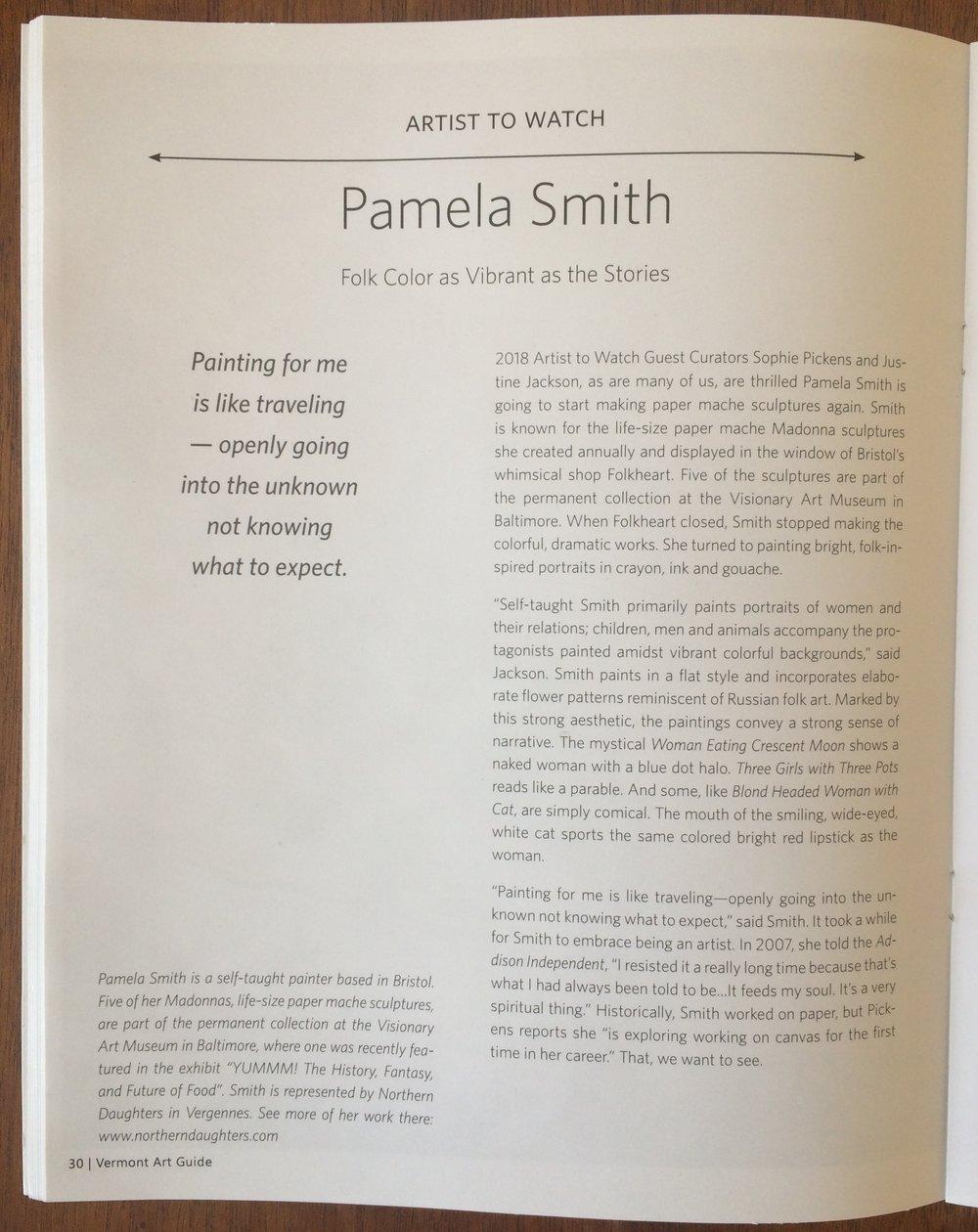 Pamela Smith Vermont Art Guide
