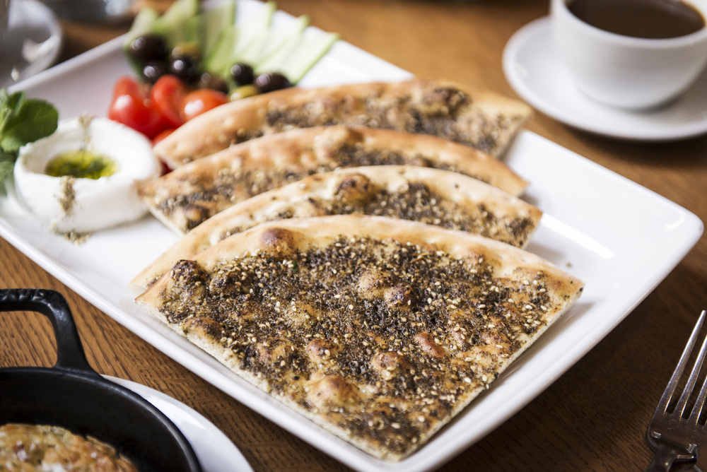 Breakfast Manoushe with Zaatar