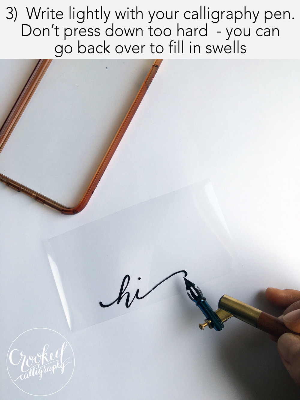 Diy calligraphy phone case — crooked