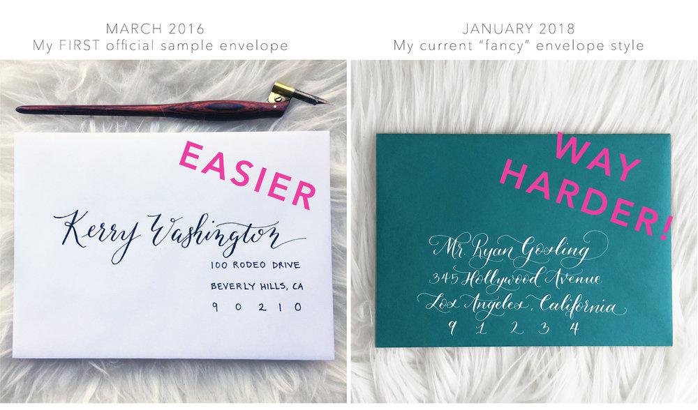 Easy Calligraphy Envelope versus Complicated Calligraphy Envelope.jpg