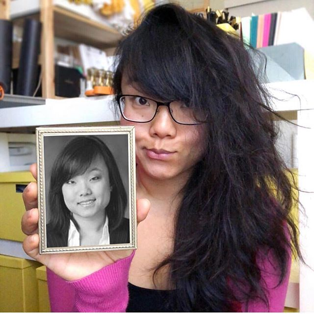 One more throwback post from 2018 and this one is of my face... Actually, two of my faces. Taken almost exactly ten years apart. 🙌 — One is from 2008, when I first started working as a corporate lawyer and had this professional photo taken for the official law firm website. 👩🏻‍💼 And the goofier face is from last year, in my home studio, surrounded by a mess of art supplies, with my iPhone propped up on a stack of books. 👩🏻‍🎨 — These honestly feel like two totally different people. But I couldn't be who I am now without that prior life. I'm actually discovering that my past decisions are not a source of regret... they're the source of my true magic. ✨ — I've been thinking about sharing more details about how I actually got from lawyer to creative. But is that something you'd even be interested in hearing about? 🤷🏻‍♀️ Let me know ok? 😁