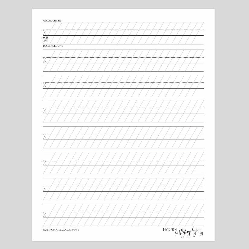 CALLIGRAPHY GUIDELINE SHEETS