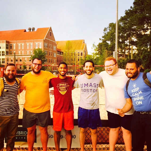 A couple cohort members and I participated in a Volleyball league at Florida State University